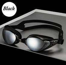 Очки для подводного плавания профессиональные черного цвета