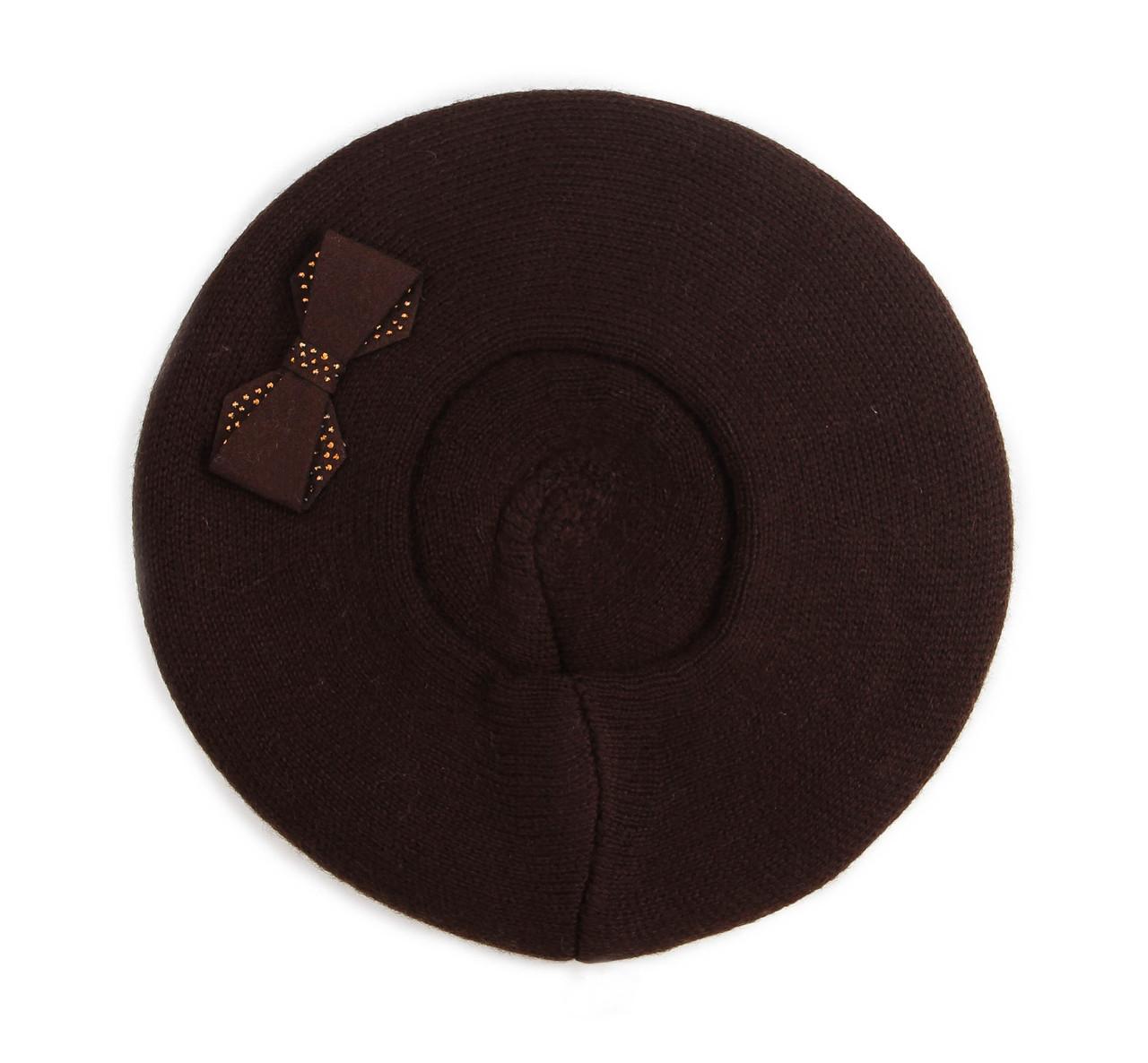 "Берет ""Бант"" цвет шоколад"