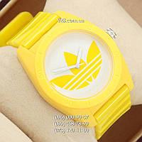 Спортивные женские часы Adidas Log 0927 Yellow/White (кварцевые)