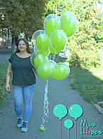 Оригинальный яркий фонтанчик с шарами с шариками внутри