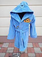 Детский махровый халат с вышивкой