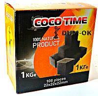 Кокосовый Уголь — COCO TIME (1 кг, 108 кубиков)