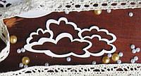 Чипборд для скрапбукинга Облака  9,4*4,5 см, белый картон 1,5 мм