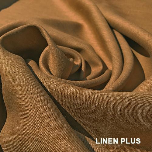 Песочная льняная ткань 100%  лен, цвет 510