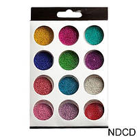 Набор бульонок для ногтей 12 штук разноцветные