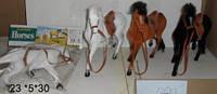 """Лошадь HSC788.A.B флок. 8,5"""", 3цв.кул.23 *5*30  ш.к. /72/"""
