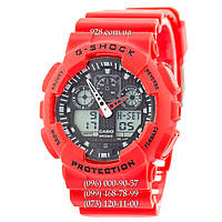 Спортивные часы Casio G-Shock Ga-100 Red-Black (кварцевые)