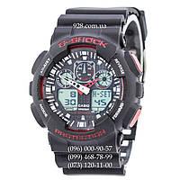 Спортивные часы Casio G-Shock Ga-100 Black-Red (кварцевые)