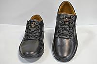 Мужские туфли на шнурках демисезон из натуральной кожи