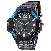 Спортивные часы Casio G-Shock GA-1100 Black-Blue (кварцевые)