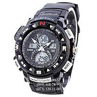 Спортивные часы Casio G-Shock Twin Sensor Black-White (кварцевые)
