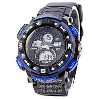 Спортивные часы Casio G-Shock Twin Sensor Black-Blue (кварцевые)