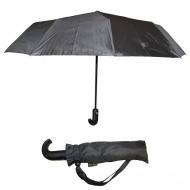 Зонт мужской  п/автомат черный полиэстр. 9сп. с закрученной ручкой Love Rain