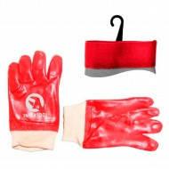 Перчатки МБС(красная)х/б трикотаж.вяз.манжет 10.5&quotх26см (12шт/уп)