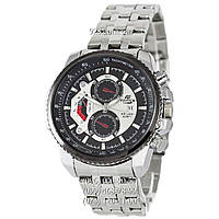 Спортивные часы Casio Edifice 8218 Silver-Black (кварцевые)
