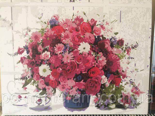 Раскраска по номерам Mariposa Розовые хризантемы MR-Q1233