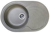 Кухонная гранитная мойка 78*50 Valetti цвет беж овальная серия Europe модель №33