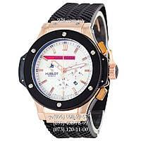 Классические часы Hublot Big Bang Luna Rossa Automatic Black/Gold/White (механические)