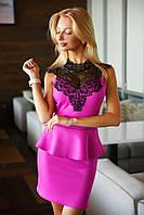 Женское платье с баской 2059 ВМ