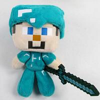 Мягкая игрушка Алмазный Стив  из игры Minecraft Майнкрафт
