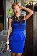 Женское платье с баской 2059.1 ВМ