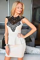 Женское платье с баской 2059.2 ВМ