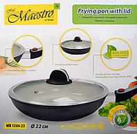 Сковорода с керамическим покрытием MAESTRO MR-1204-22 (22 см)