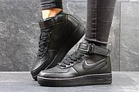 Женские кроссовки Nike Air force черные высокие 3086