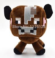 Мягкая игрушка Коричневая Корова  из игры Minecraft Майнкрафт