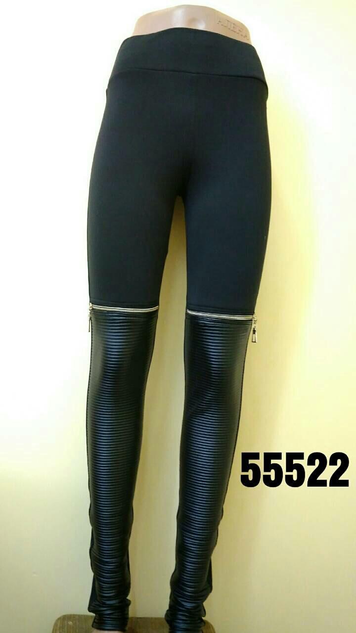 85cf883d93509 Оригинальные лосины с встаками эко-кожи и замками на коленях ...