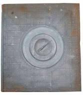 Плита чугунная 1-но конфор. 355х400мм Клетка