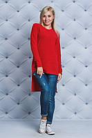 Кофта женская асимметрия красная, фото 1