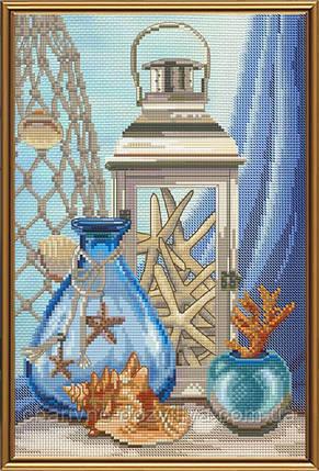 """Набор для вышивания бисером и нитками """"Воспоминания о море"""", фото 2"""