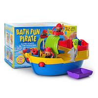 Игрушка для купания корабль пиратов, фигурки 2шт