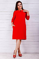 Повседневное  платье с рукавом в три четверти