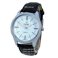 Классические часы Rolex Cellini Black-Silver-White (кварцевые)