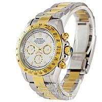 Классические часы Rolex Daytona AA+ Mechanic Silver-Gold-White (механические)
