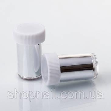 Фольга для литья в баночке, серебристая, фото 2