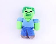 Мягкая игрушка Зомби из игры Minecraft Майнкрафт