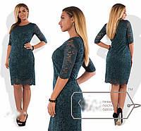 Женское гипюровое платье батал 03599 Волох