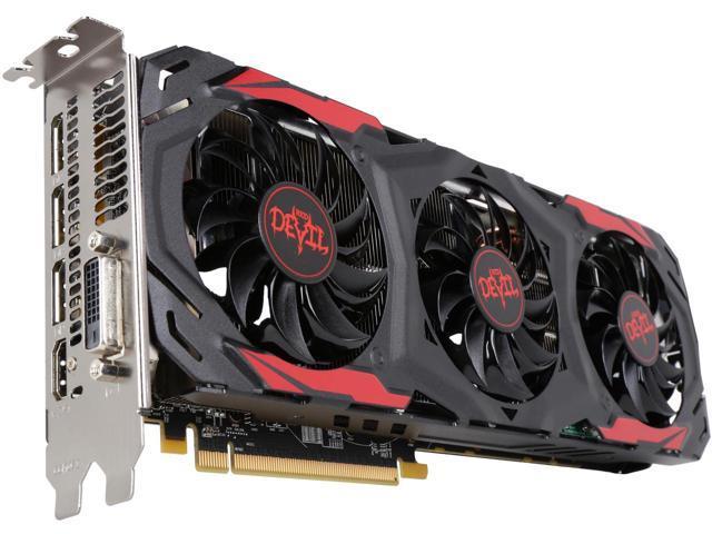 Відеокарта PowerColor AMD Radeon RX 570 Red Devil 4GB 1320 МГц (легке б.у., ідеальний стан, комплект)