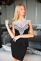 Женское платье с баской 2059.3 ВМ