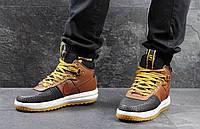 Мужские кроссовки Nike Lunar Air Force LF1 черные с коричневым 3090
