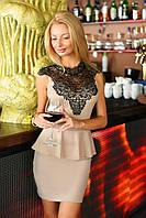 Женское платье с баской 2059.4 ВМ
