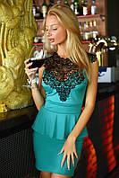 Женское платье с баской 2059.5 ВМ