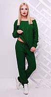 Вязаный спортивный костюм зеленый