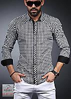 Мужская рубашка приталенная, разные цвета, фото 1