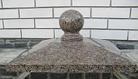 Крышка накрывная столба пирамида светло коричневая № 16.