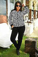 Женский велюровый костюм леопард 834 ВМ