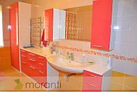 Мебель в ванную с пеналами и шкафом для белья